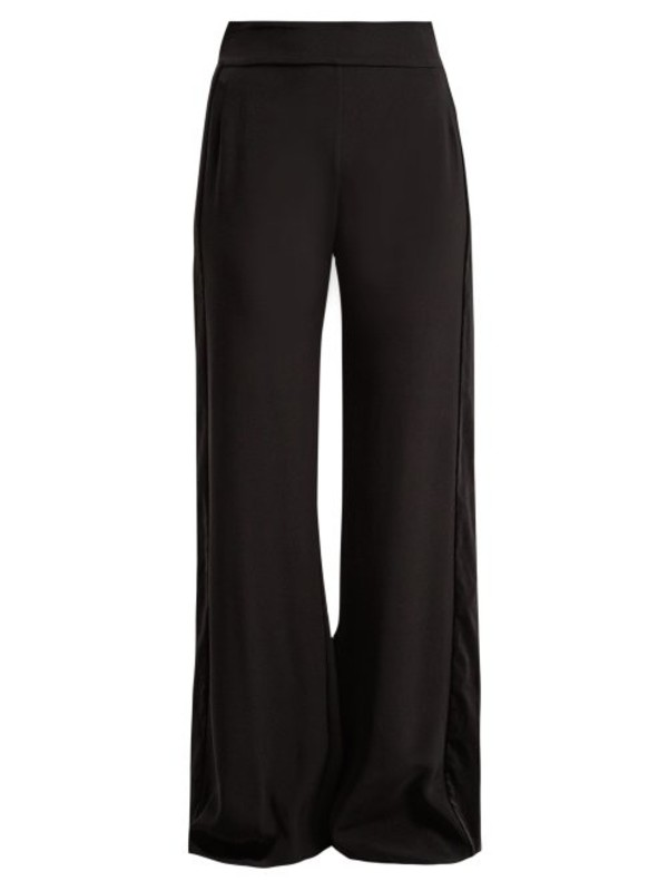 Zeus + Dione Zeus + Dione - Alcyone Side Striped Crepe Trousers - Womens - Black