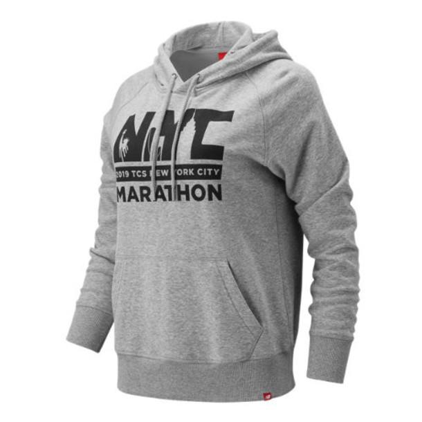New Balance 91523 Women's NYC Marathon Essentials PO Hoodie - Grey (WT91523MAG)