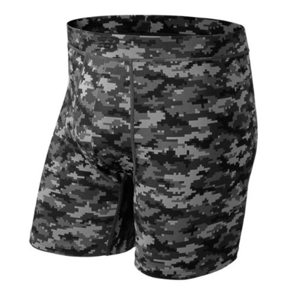 New Balance 1079 Men's Premium 6 Inch Pocket Boxer Brief 1 Pair - Black/Green (NB1079DC)