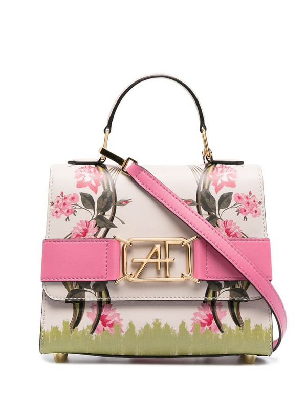 Alberta Ferretti floral print leather tote in neutrals