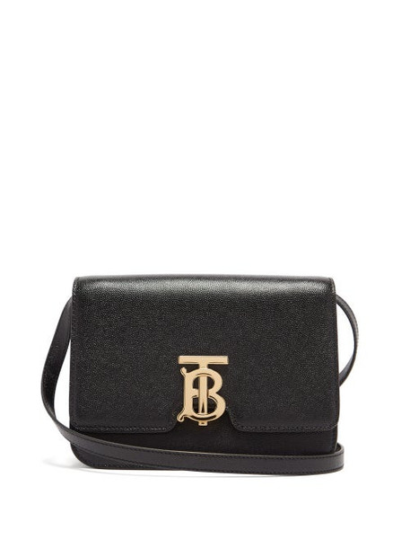 Burberry - Tb Monogram Grained-leather Cross-body Bag - Womens - Black