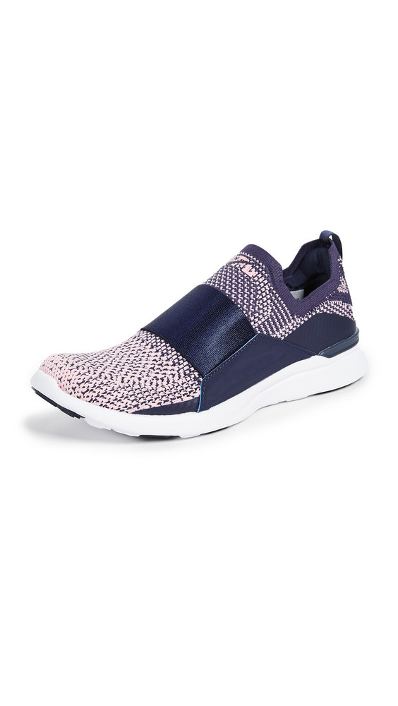 APL: Athletic Propulsion Labs TechLoom Bliss Sneakers in navy / rose / white