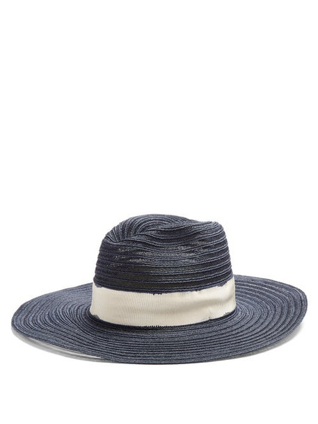 Filù Hats - Batu Tara Hemp-straw Hat - Womens - Navy