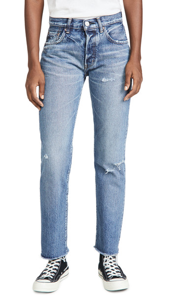 MOUSSY VINTAGE Franconia Straight Jeans in blue
