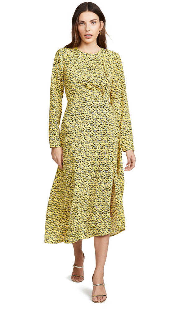 C/Meo Collective Sanguine Long Sleeve Dress in yellow