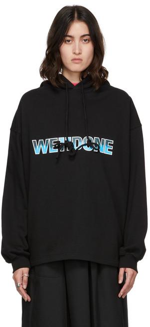 We11done New Logo Hoodie in black