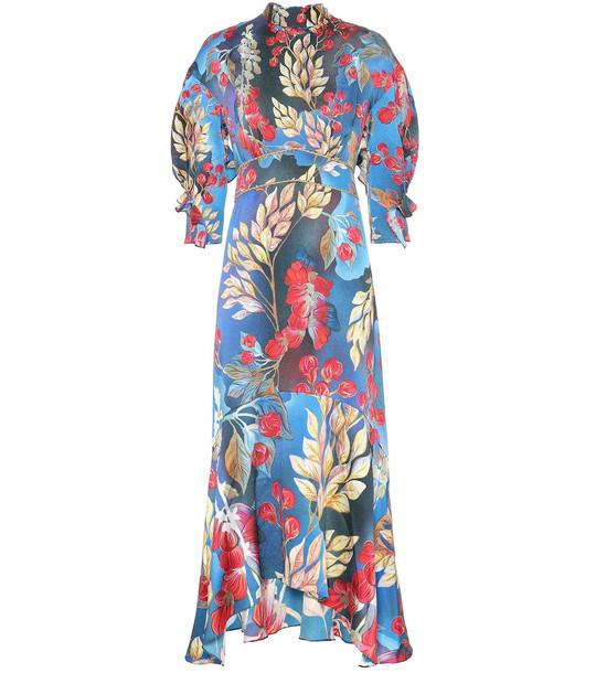 Peter Pilotto Floral silk-blend dress