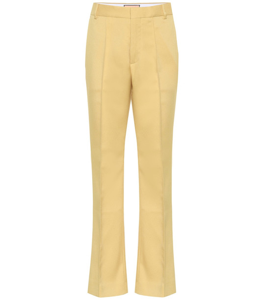 Plan C High-rise straight pants in yellow