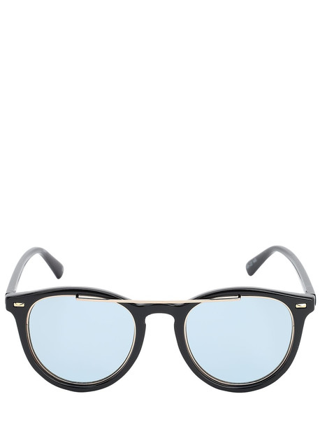 LE SPECS Fire Starter Claw Embellished Sunglasses in black / khaki