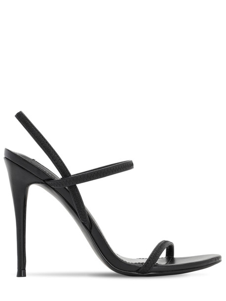 STEVE MADDEN 120mm Elastic Faux Leather Sandals in black