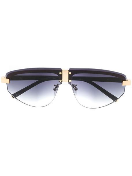 Linda Farrow oversized sunglasses in black