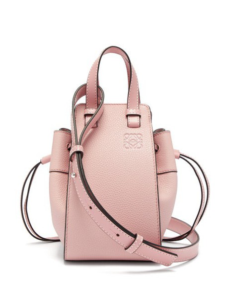 Loewe - Hammock Mini Grained Leather Cross Body Bag - Womens - Pink