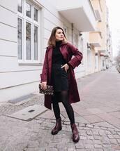 skirt,wrap skirt,denim skirt,black skirt,lace up boots,tights,bag,coat,black turtleneck top