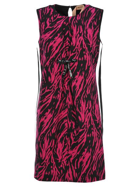 N.21 N21 Zebra Pattern Dress in fuchsia
