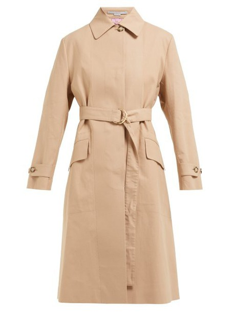 Stella Mccartney - Single Breasted Cotton Trench Coat - Womens - Camel