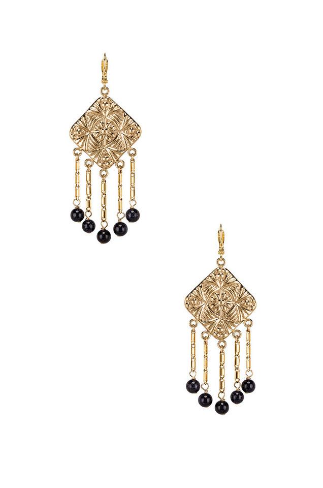 Paradigm Baroque Coin Earrings in gold / metallic