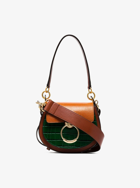 Chloé Chloé Multicoloured Mock Croc Leather Shoulder Bag in brown