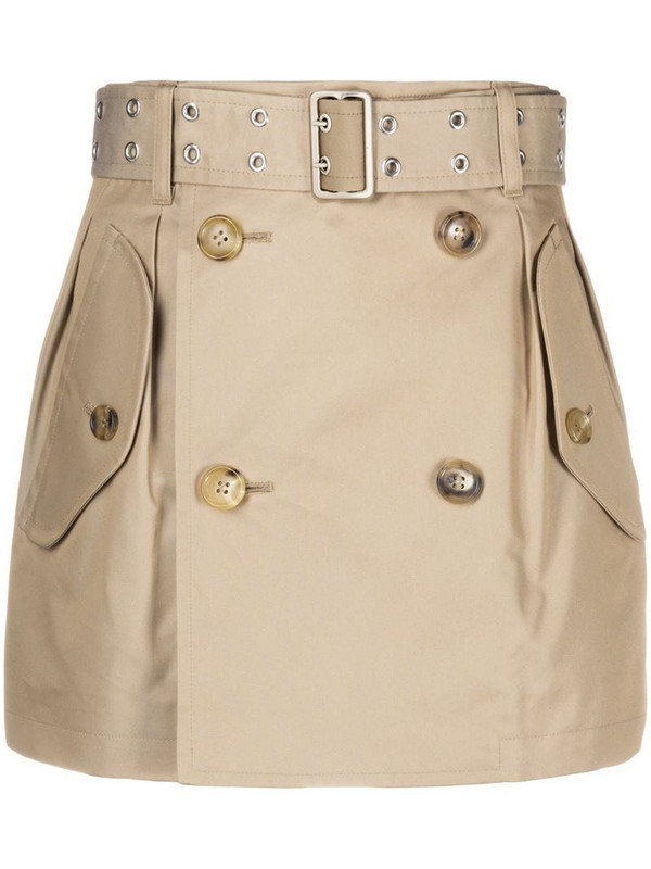 Junya Watanabe double-breasted mini skirt in neutrals