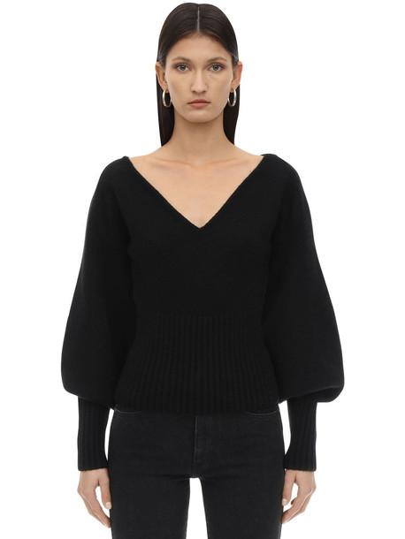 KHAITE Charlette Cashmere Knit Sweater in black