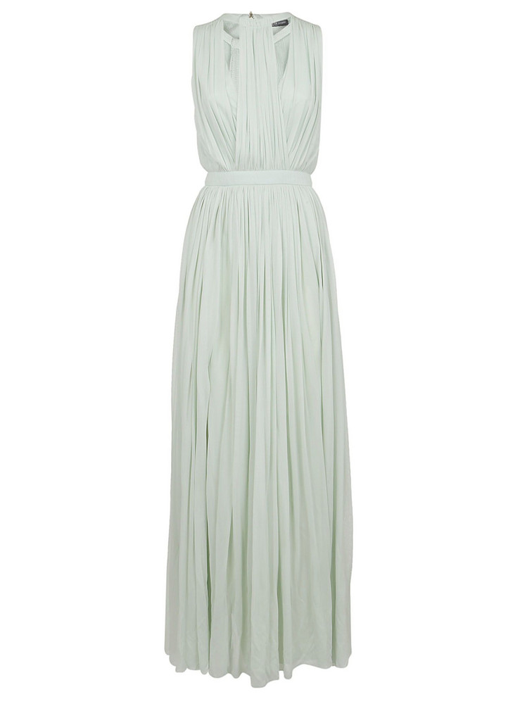 Alexander Mcqueen Greek Goddess Gown in mint