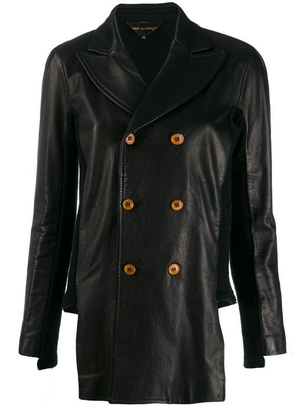 Comme Des Garçons Pre-Owned 1990s patched contrasting back jacket in black