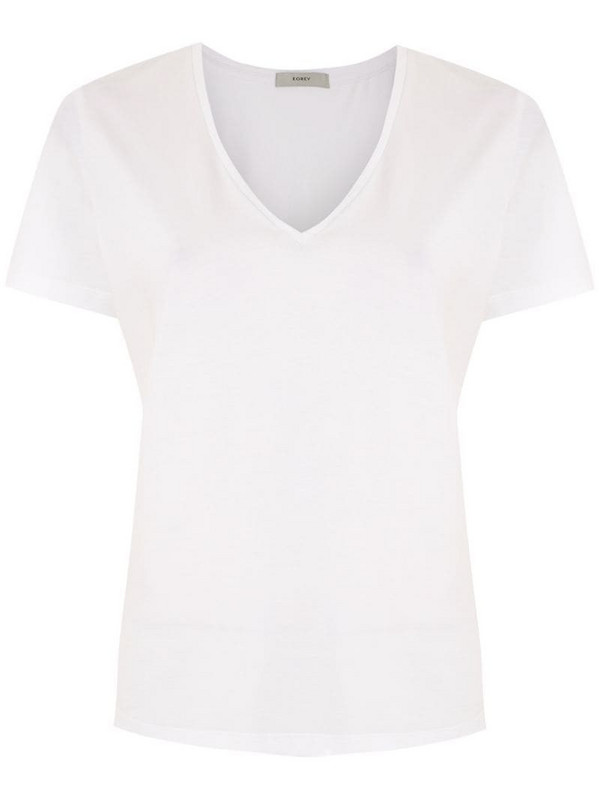 Egrey V-neck T-shirt in white