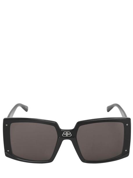 BALENCIAGA Shield Square Sunglasses in black