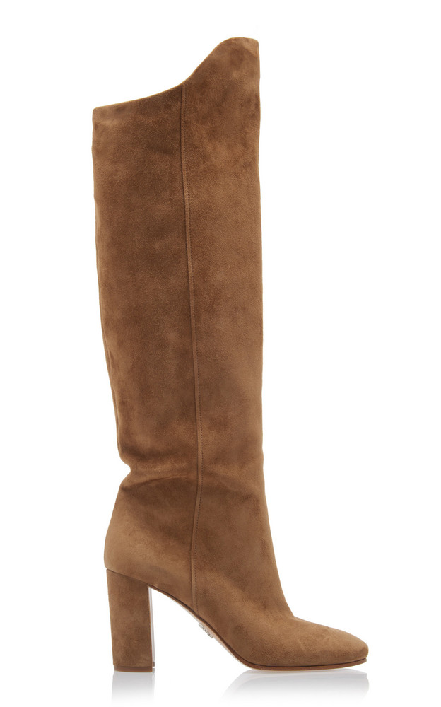 Prada Suede Knee Boots Size: 42 in brown