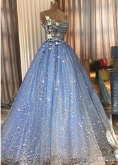 dress,prom dress,prom,prom gown,ball gowns,a line prom gowns,a line dress,princess dress,glitter,glitter dress,floral,flowers,floral dress,tulle dress,tulle prom dress,tulle prom gown,blue,blue dress,baby blue prom dress