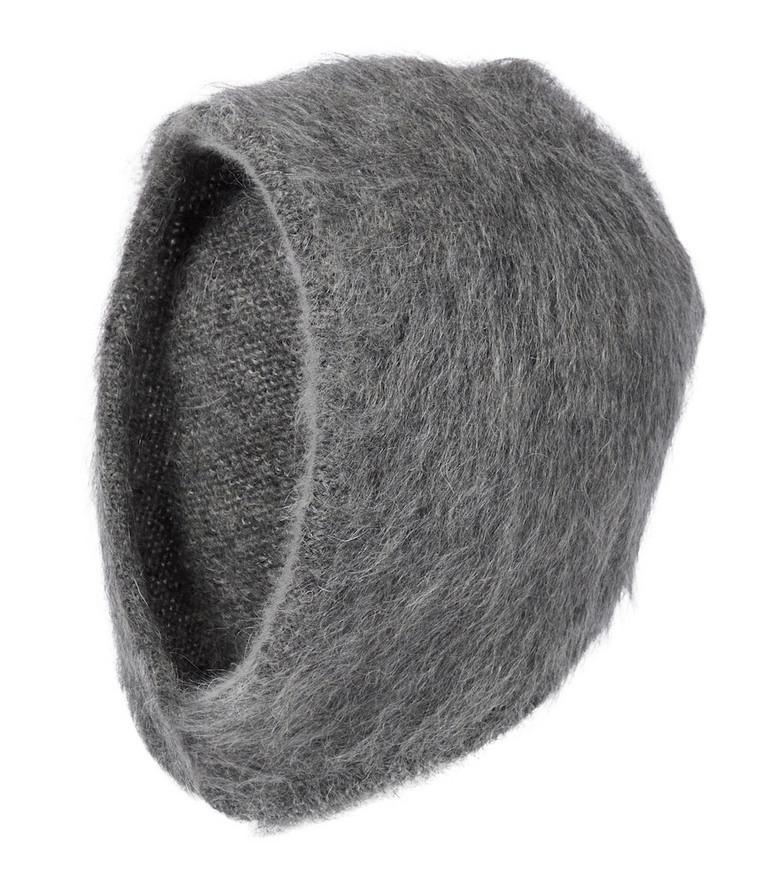 Miu Miu Mohair-blend hat in grey
