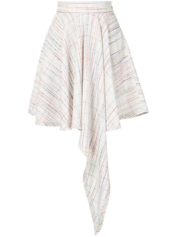 George Keburia high-low hem skirt in white