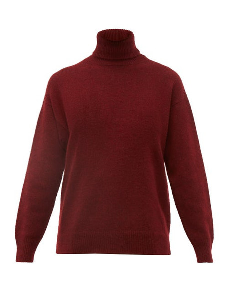 Officine Générale - Alma Cashmere Roll Neck Sweater - Womens - Burgundy