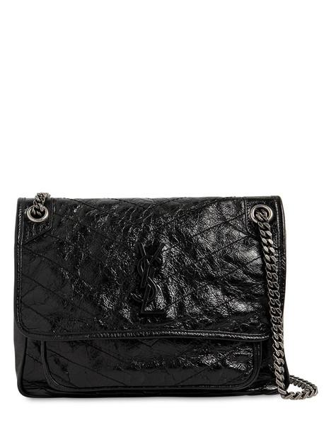SAINT LAURENT Medium Niki Monogram Leather Bag in black