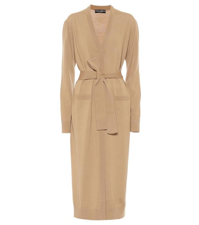 Dolce & Gabbana Virgin wool cardigan in beige