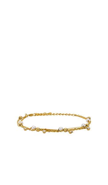 EIGHT by GJENMI JEWELRY Pearl Bracelet in Metallic Gold
