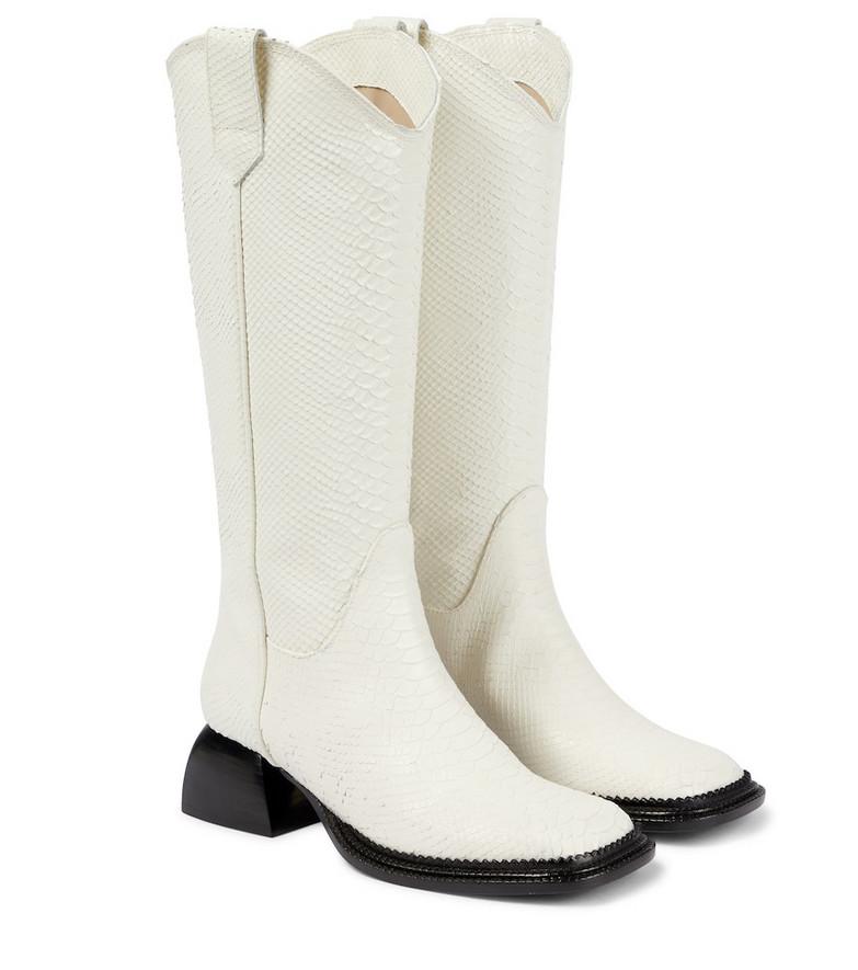 Nodaleto Bulla Jane leather knee-high boots in white