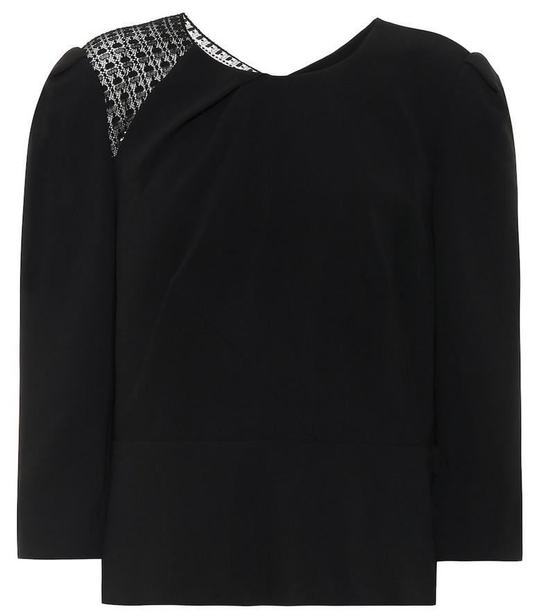 Roland Mouret Ashridge stretch-crêpe shirt in black