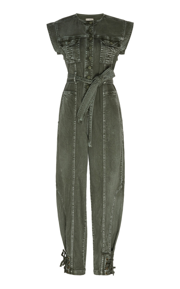 Ulla Johnson Adair Cotton Jumpsuit Size: 0 in green