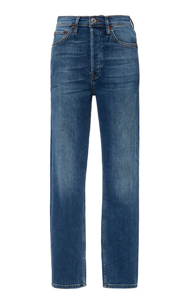 Re/done Cropped High-Rise Slim-Fit Jeans Size: 24