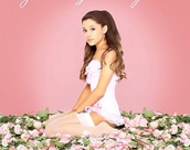top,ariana grande,ariana grande vintage,ariana grande outfits,pink,bustier,bustier top,bow,bow dress,ruffle,lingerie,yours truly,album cover,girly,baby pink,peach pale pink,peach