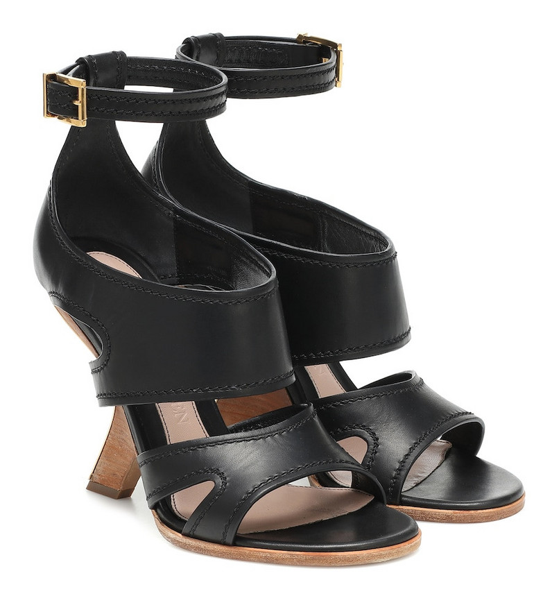 Alexander McQueen No.13 leather sandals in black