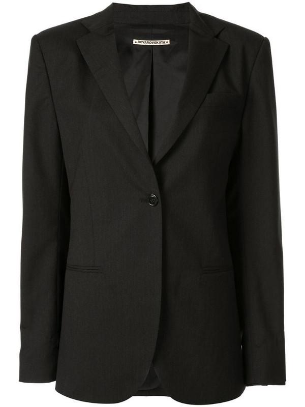 Boyarovskaya oversized blazer in black