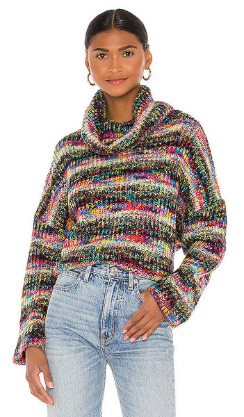 Lovers + Friends Lovers + Friends Leslie Turtleneck Sweater in Pink in multi