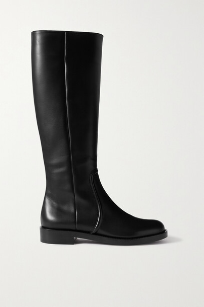 Gianvito Rossi - Leather Knee Boots - Black