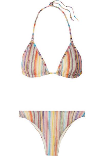 Missoni - Mare Metallic Crochet-knit Triangle Bikini - Lilac