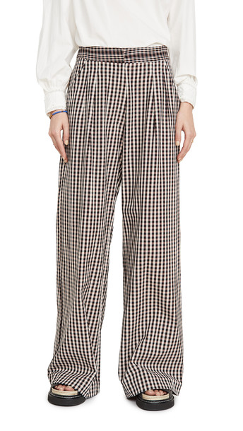 Alix of Bohemia Diana Houndstooth Trousers in black / pink