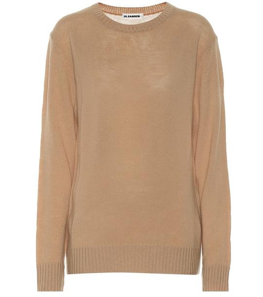 Jil Sander Virgin wool sweater in beige