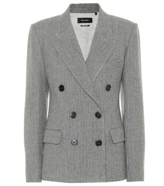 Isabel Marant Eleigh wool and linen blazer in grey
