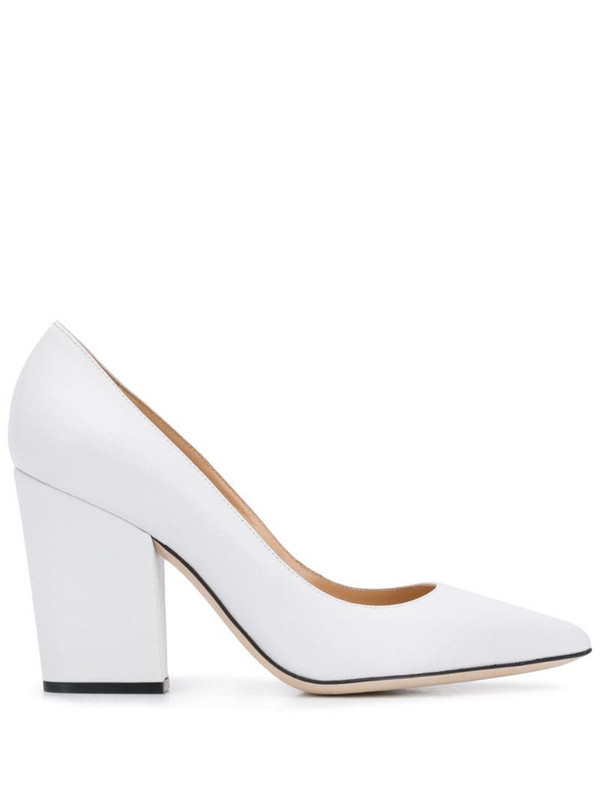 Sergio Rossi Scarlett 90mm pointed toe pumps in white