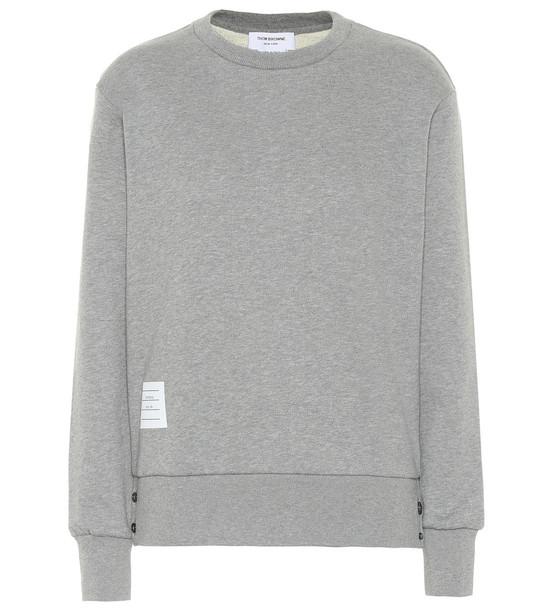 Thom Browne Cotton sweatshirt in grey